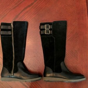 Timberland Lakeville Black Suede Leather Boots 6